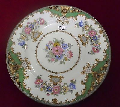 "SHERATON 9 1/4"" DIA. LUNCHEON PLATE (SMOOTH) BY SHELLEY - GREEN - 1920"