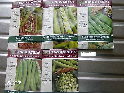 34 Kings Vegetable,Packet,Seed,Broad Bean,French Bean,Peas,Runner Bean, Manures