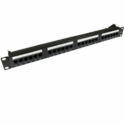 Patch Panel Cat5e RJ45 19 inch Rack Mountable 24 Port & Back Bar [007509]