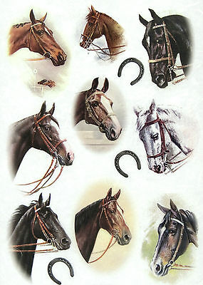 Rice Paper for Decoupage Decopatch Scrapbook Craft Sheet Horses 2