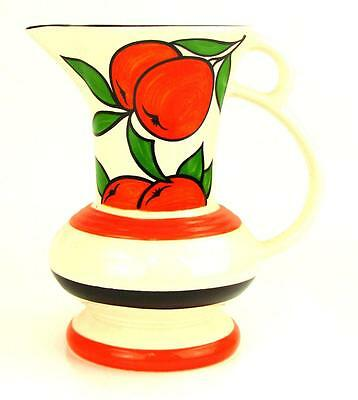 """WADE POTTERY England The Gallery Collection Art Deco Orange Grove Pitcher Jug 7"""""""