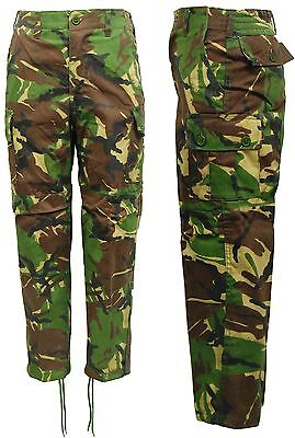 Kids Boys Camo Army Woodland Camouflage Cargo Trousers Pants
