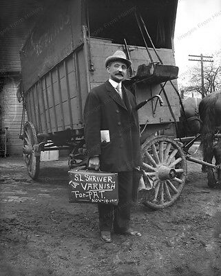 8x10 Print Early Traveling Salesman Peddler Varnish 1910 #043