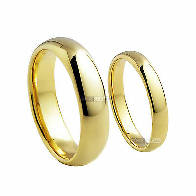 18K Yellow Gold Gf Ring Men Women Wedding Band Engagement Ring