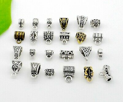 Mixed Silver/Gold/Bronze Connectors Spacer Bail Beads Pendant For Jewelry Making