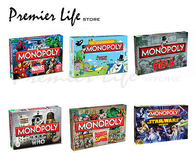 Monopoly Boards Games - Latest Designs Adventure Time, Walking Dead, Doctor Who