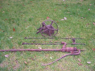 Antique Hit Miss Heller Pump Jack ,with Pitman Arm and Deming Pump