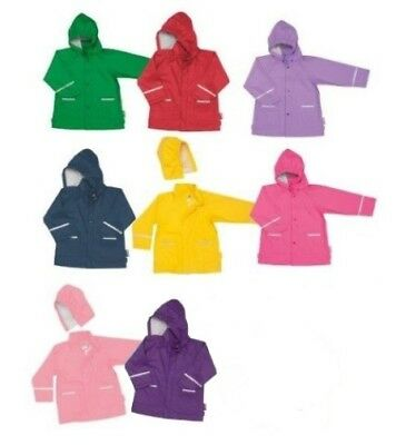 Playshoes Toddler & Children's Waterproof Rain Jacket Snap Buttons - No Lining