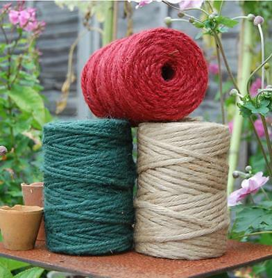 90m Nutscene thick chunky garden twine string 100% hessian jute 3 colours