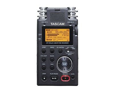 TASCAM DR-100mkII 2-Channel Portable Digital Recorder with TASCAM Warranty