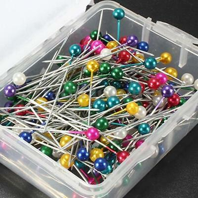 200PPCS/Box  Multi Color Round-Head Faux Pearl Dressmaking Sewing Decorating Pin
