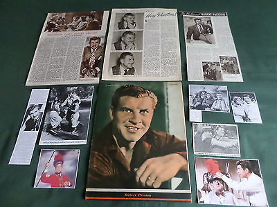 Robert Preston - Film Star  - Clippings /cuttings Pack