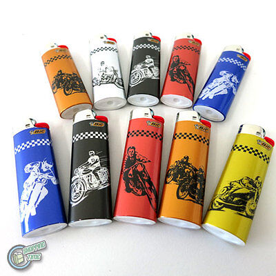 10 Motor Cycle BIC Child Guard Cigarette Tobacco Lighter Maxi Big J26 Cigar