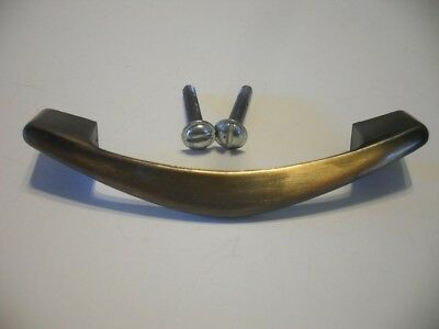 Vtg NOS Antique BRASS Plated DRAWER Cabinet Door PULLS Chevron Boomerang Amerock