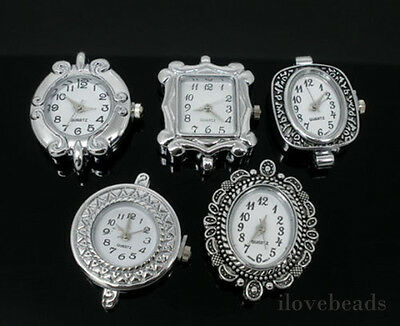 5 Mixed Quartz Watches Faces 29x24mm-33x26mm Findings