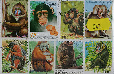 40 Monkeys and Chimps stamps (542)