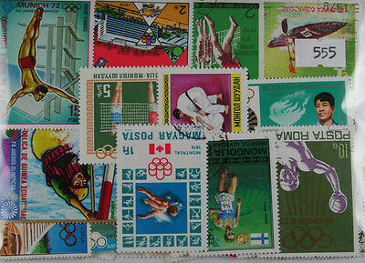 300 Olympics stamps  (summer) (555)