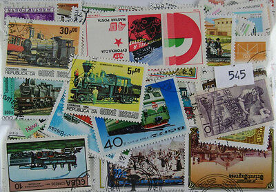 200 Trains stamps. All different. (545)