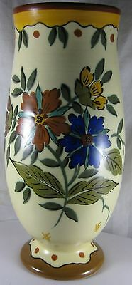 Rare Large GOUDA ROYAL ZUID HOLLAND FAROGA 9 1/2 inch Pot Vase Original Label