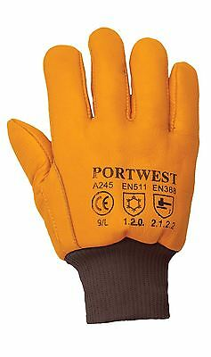 Portwest Leather Antarctic Insulatex Glove Lined Workwear Coldstore A245