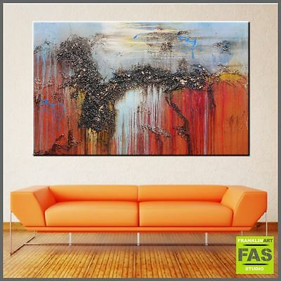 Large Abstract Canvas Painting Modern Original Art  160cm x 100cm - Franko