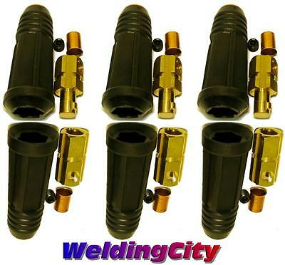 WeldingCity 3-pk Welding Cable Quick Connector Pair 200-300A (#4-#1) 35-50 MM^2