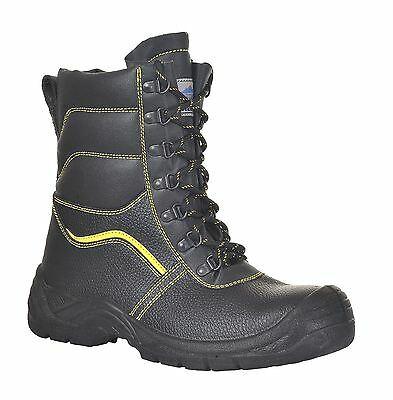 Portwest Furlined High Leg Protector Safety Boot Shoe Work Outdoors 4-12 FW05