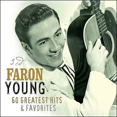 FARON YOUNG * 60 Greatest Hits * 3-CD BOX SET * All Original Songs * NEW +SEALED