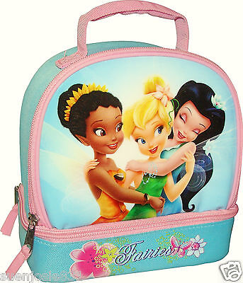 Disney Fairies Tinkerbell Lunch Bag Dual Compartment Insulated Tote 1ct