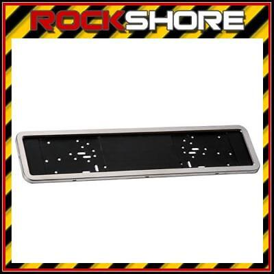 2 x Stainless Steel Car Number Plate Surrounds - Registration Plate Holders