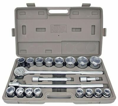 "21pc SAE 3/4"" Drive Socket Set w Storage Case Jumbo Ratchet Wrench Extension NEW"