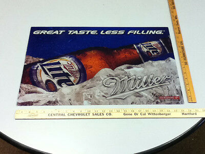 VA5 MILLER BEER SIGN BAR SIGNS 1 LITE REPLACEMENT GRAPHIC FOR LIGHT BOX 23.5 15