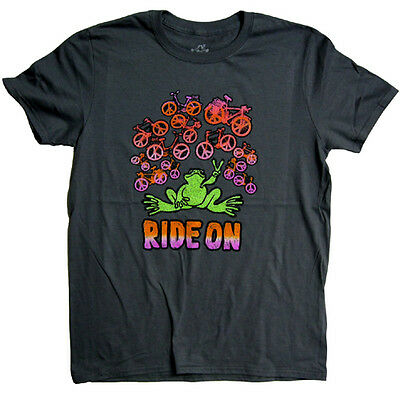 New Peace Frogs Ride On Ladies Small T-Shirt