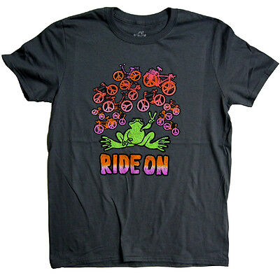 New Peace Frogs Ride On Ladies Medium T-Shirt