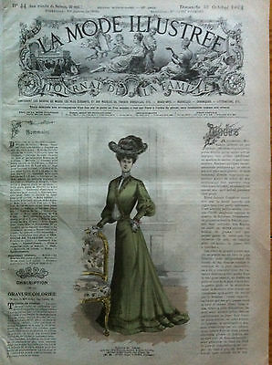 Last one !  ORIGINAL French MODE ILLUSTREE Oct 30, 1904 + sewing pattern