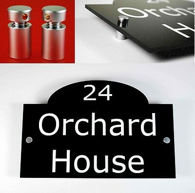 House Number Sign/Plaque Black Acrylic Traditional Large. Contemporary, Modern.