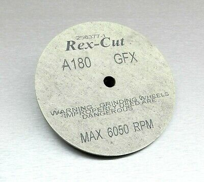 "REX CUT WHEEL 1/4"" THICK GFX A180 GRIT 6""x1/4""x1/2"" FIBER MX DEBURRING WHEELS"