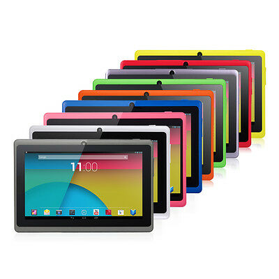 """7"""" Multi-Color Quad Core Android 4.4 KitKat 8GB HD Tablet PC Dual Camera WiFi"""
