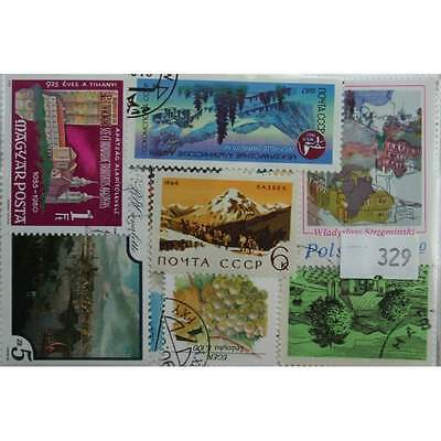 Landscapes. 25 stamps, all different. (329)