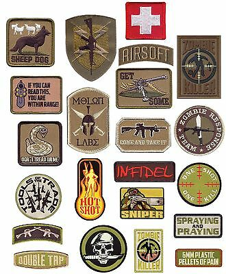 Tactical Hook-Back Morale Patch - Embroidered Hook Back Military Patches