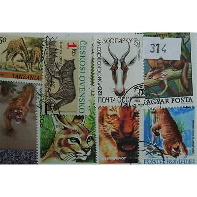 Wild Animals. 25 stamps, all different. (314)