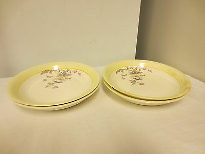 "Lot 4 K T & K (Knowles,Taylor,Knowles) China 7 1/2"" Bowls;S--V Ivory WildFlower"