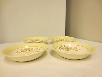 "Lot 4 K T & K (Knowles,Taylor,Knowles) China 5 1/2"" Small Bowls;S--V Ivory WildF"