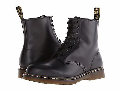Men's Shoes Dr. Martens 1460 8 Eye Leather Boots 11822006 Black Smooth *New*