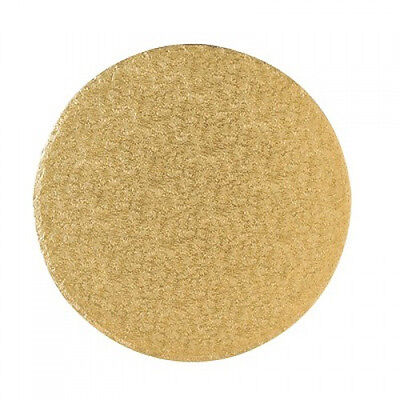 "Round Gold Masonite Cake Boards 11"", 12"", 13"", 14"", 16"", 18"", 20"" Fancy Boards"