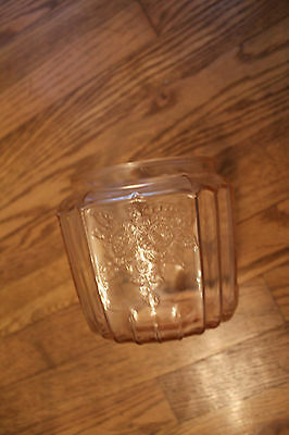 Pink Depression Glass Mayfair Open Rose Cookie Jar  NO  CHIPS GUARANTEED