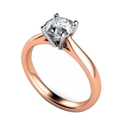 Diamond-Unique 1ct Engagement Ring 9ct Rose Gold
