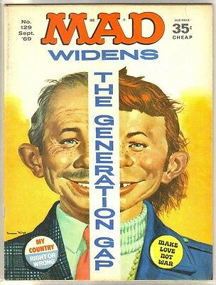 MAD MAGAZINE #129 The Generation Gap Widens! Comic Mag ~ FN