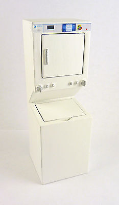 Dollhouse Miniature Stacked Washer/Dryer Laundry, White, T5493