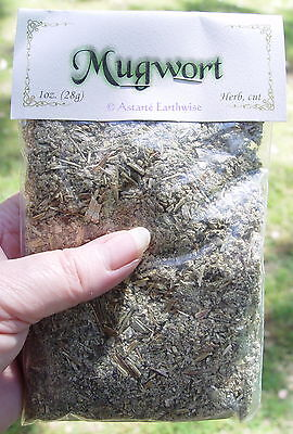 MUGWORT 28g SMOKEABLE HERB Wicca Witch Pagan AIDS ASTRALTRAVEL DREAMS DIVINATION